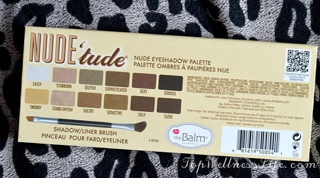 The Balm Nude 'tude Nude Eyeshadow Palette17