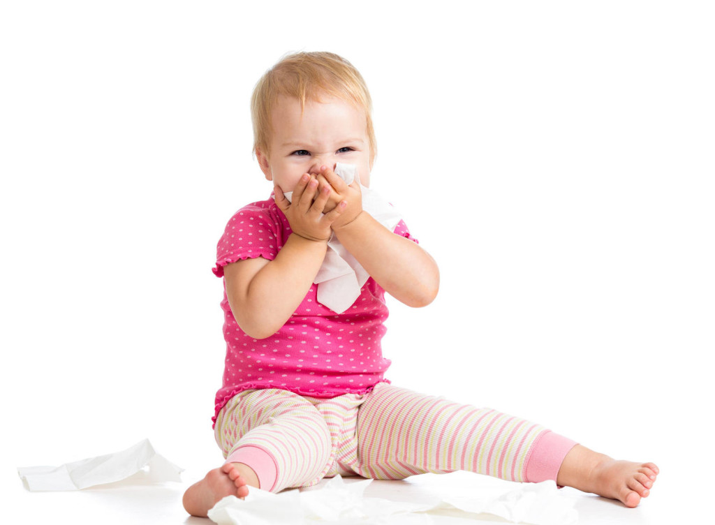 The signs of the children's allergic cough