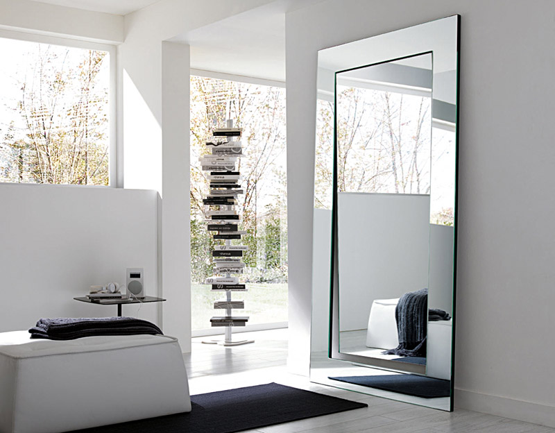 mirrors and wall color
